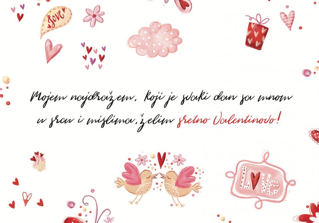 Mojem najdražem želim sretno Valentinovo