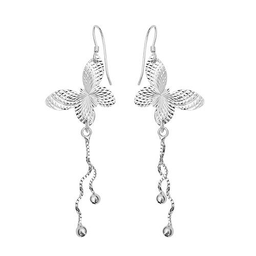 Playful butterflys srebrne naušnice