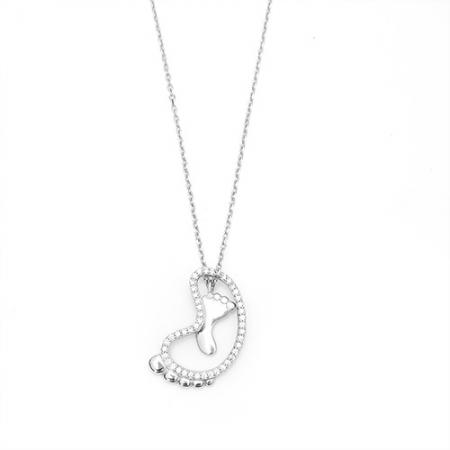 FEET srebrna ogrlica