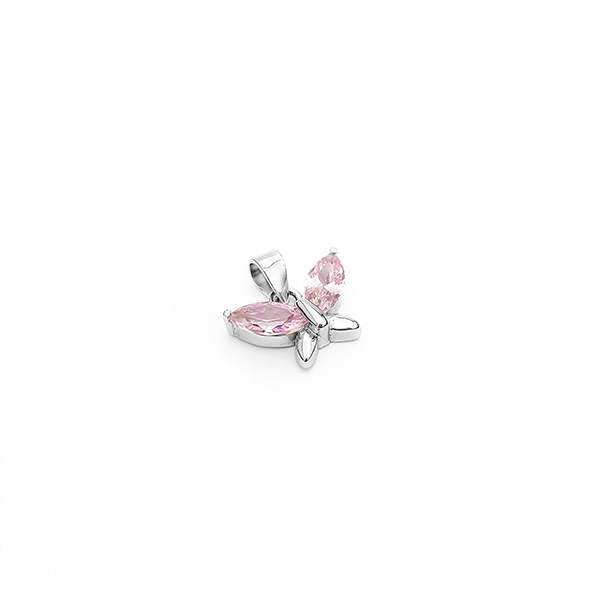 Butterfly pink Silver for you privjesak