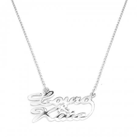 Name&name under srebrna ogrlica s dva imena
