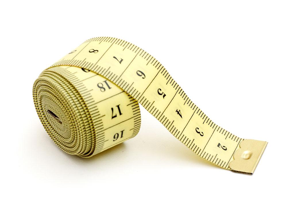 Krojački metar za određivanje veličine prstena