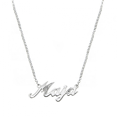Wear a name ogrlica s imenom - Silver for you