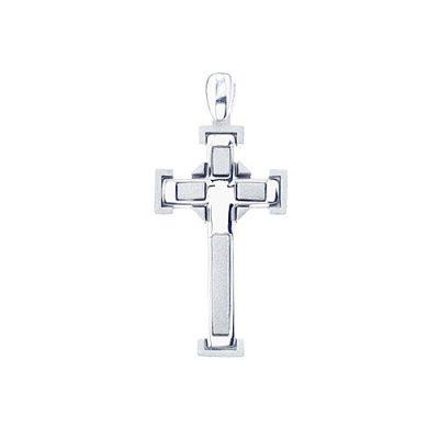 Square cross srebrni privjesak Silver for you