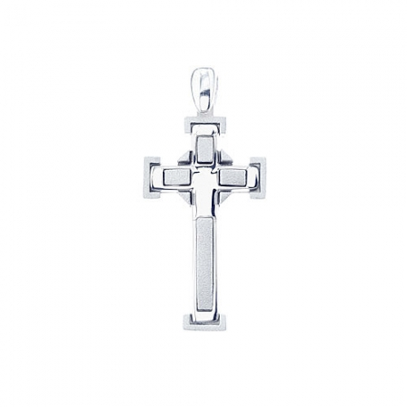 Square cross srebrni privjesak Silver for you