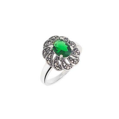 Contessa green srebrni prsten