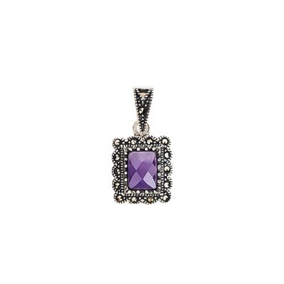 Purple majesty srebrni privjesak