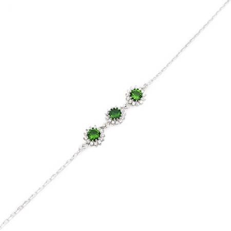 Green love srebrna narukvica