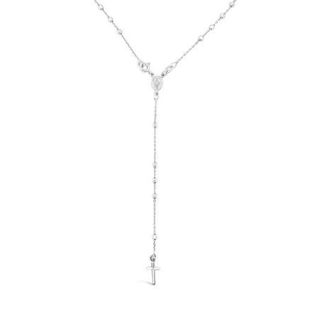 SILVER ROSARI srebrna ogrlica
