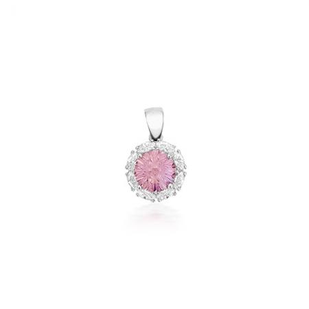 Spring pink flower srebrni privjesak Silver for you