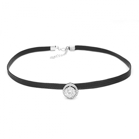 HOKER BLACK srebrna ogrlica