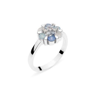 COLORFUL BOUQUET srebrni prsten
