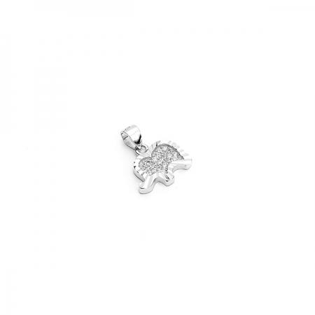 HAPPY ELEPHANT srebrni privjesak