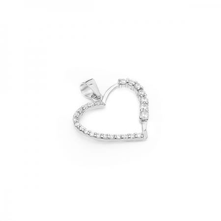 HEART srebrni privjesak Silver for you