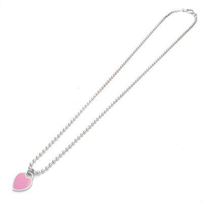 Pink love srebrna ogrlica