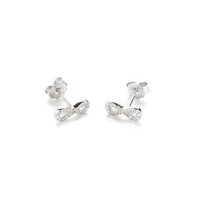 CUTE INFINITY srebrne naušnice Silver for you