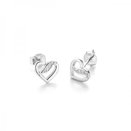 ROMANCE srebrne nausnice Silver for you