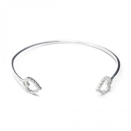TWO HEARTS srebrna narukvica Silver for you