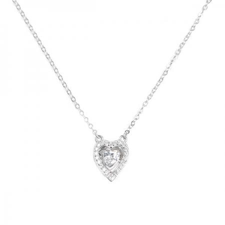 GLOWING HEART srebrna ogrlica