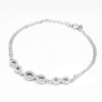 Infinity Line srebrna narukvica Silver for you
