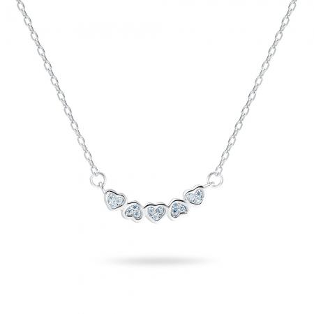 UTE HEARTS srebrna ogrlica