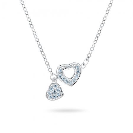 HEART TO HEART srebrna ogrlica