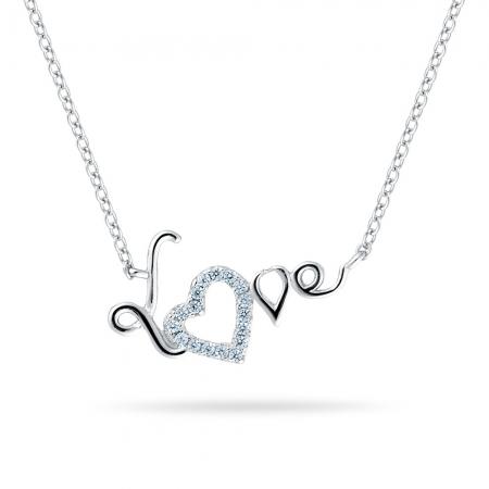 LOVE YOU srebrna ogrlica