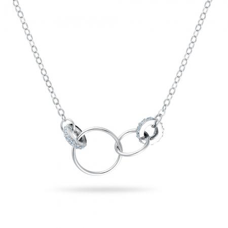 RINGS srebrna ogrlica
