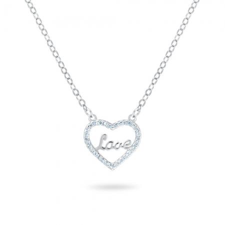 SPARKLING HEART srebrna ogrlica