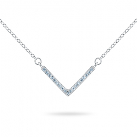 V srebrna ogrlica
