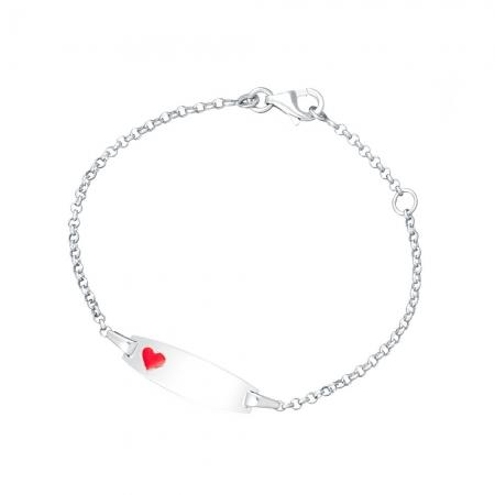 CUTE HEART srebrna narukvica-Silver for you