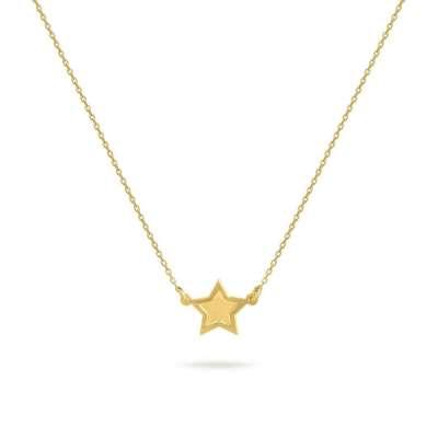 STAR pozlaćena srebrna ogrlica