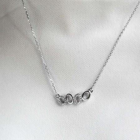 Drops srebrna ogrlica silver for you