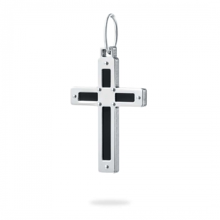 CROSSED FAITH srebrni privjesak
