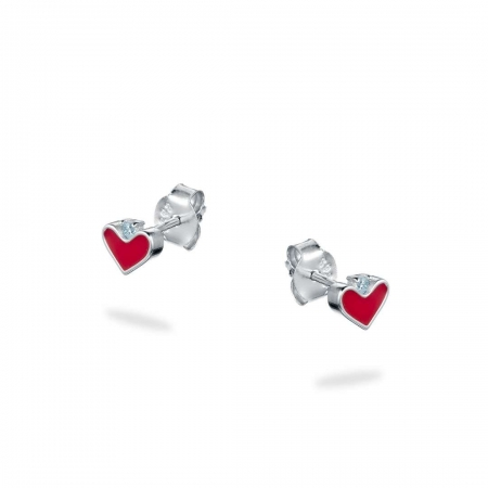 PRETTY HEARTS srebrne naušnice