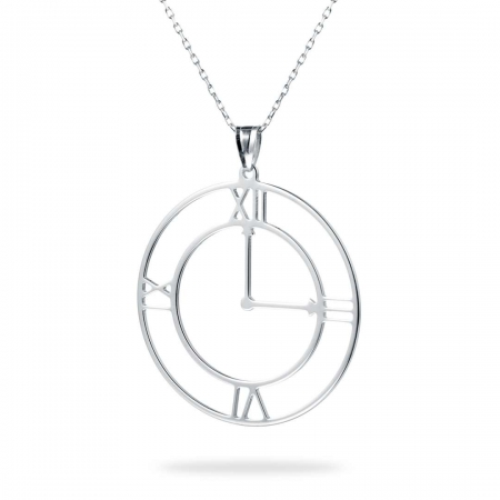 RIGHT ON TIME srebrna ogrlica