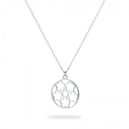 ROUND BRAID srebrna ogrlica