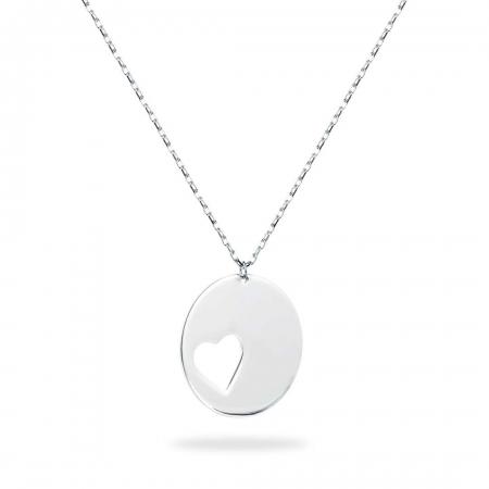 ROUND HEART SMALL srebrna ogrlica