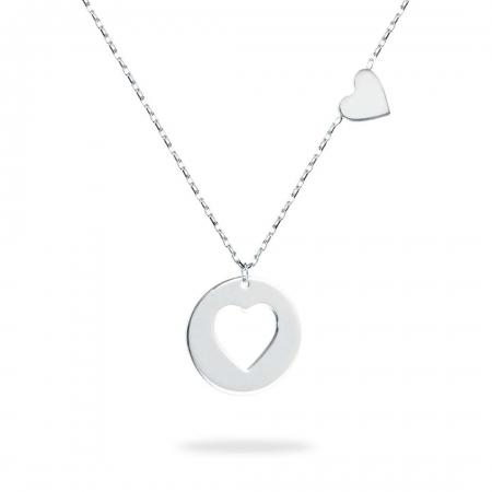 ROUND HEART srebrna ogrlica