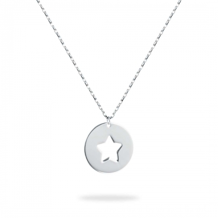 ROUND STAR srebrna ogrlica