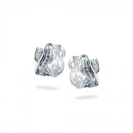 ELEGANT BRAIDS srebrne nausnice Silver for you