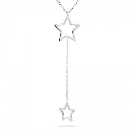 TWO STARS srebrna ogrlica