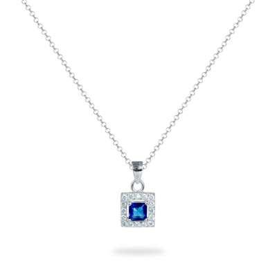Blue Square srebrna ogrlica