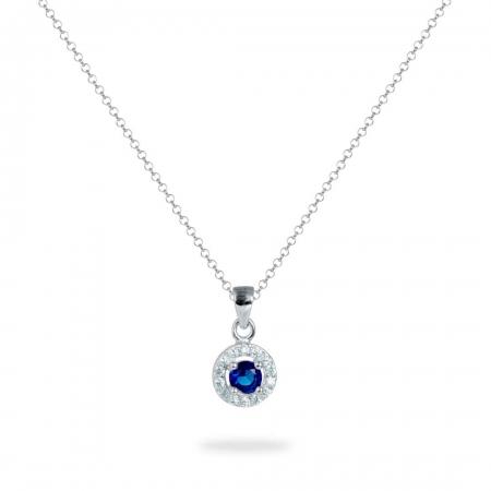 Ocean Heart srebrna ogrlica