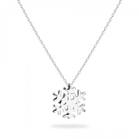 Pretty Snowflake srebrna ogrlica