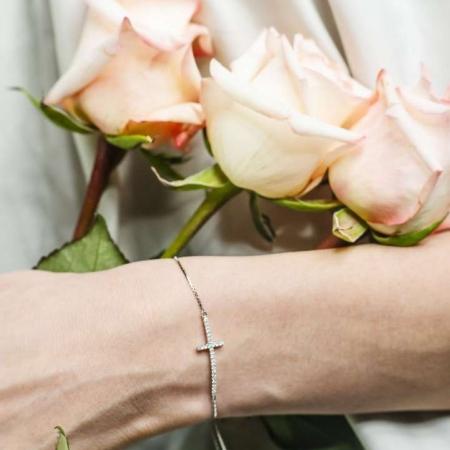 Faith Cross srebrna narukvica Silver for you