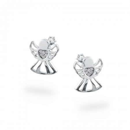 Angel Hearts srebrne nausnice Silver for you