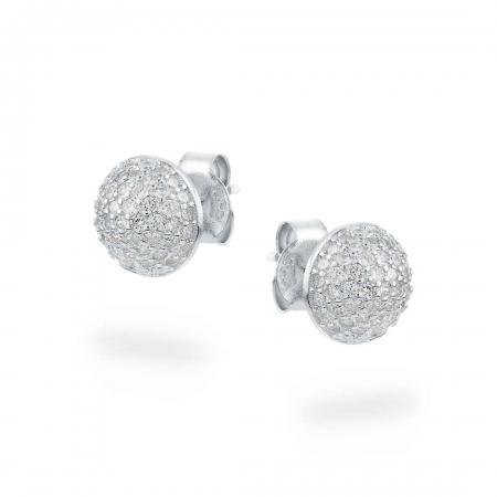 Pretty Dots srebrne nausnice Silver for you