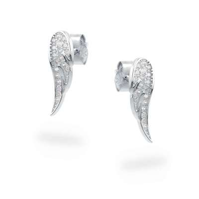 Pretty wings srebrne nausnice Silver for you