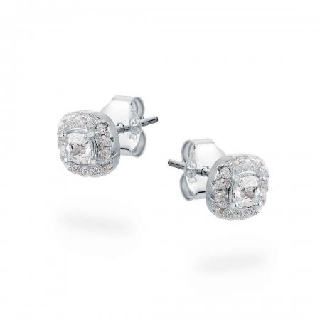 Shiny squares srebrne nausnice Silver for you